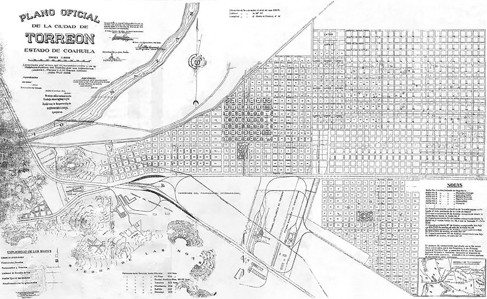 Plano antiguo de Torreón 2