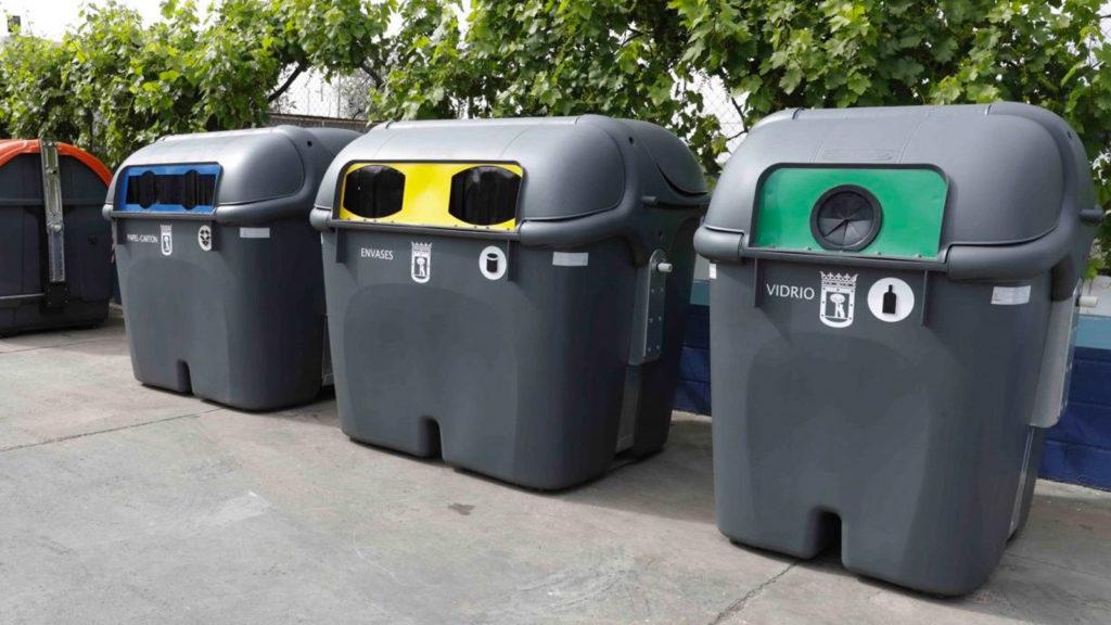 contenedores para reciclar basura